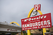 The first McDonalds hamburger restaurant now a museum in Des Plaines, Illinois, USA