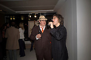 PHILL JUPITUS AND PHIL WILDING, Ideas And Idols - private view of work by Paul Karslake.<br />Scream, 34 Bruton Street, London, W1, 6.30-8.30pm<br />21 February 2008.  *** Local Caption *** -DO NOT ARCHIVE-© Copyright Photograph by Dafydd Jones. 248 Clapham Rd. London SW9 0PZ. Tel 0207 820 0771. www.dafjones.com.
