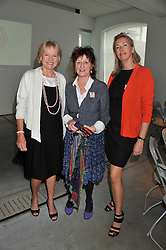 Left to right, PRISCILLA HIGHAM,  JANE ORMSBY GORE and TIGGY KENNEDY at the ASAP (African Solutions to African Problems) Lunch held at the Louise T Blouin Foundation, 3 Olaf Street, London W11 on 15th May 2012.