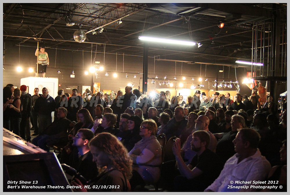 DETROIT, MI, FRIDAY, FEB. 10, 2012: Dirty Show 13,  at Bert's Warehouse Theatre, Detroit, MI, 02/10/2012.  (Image Credit: Michael Spleet / 2SnapsUp Photography)