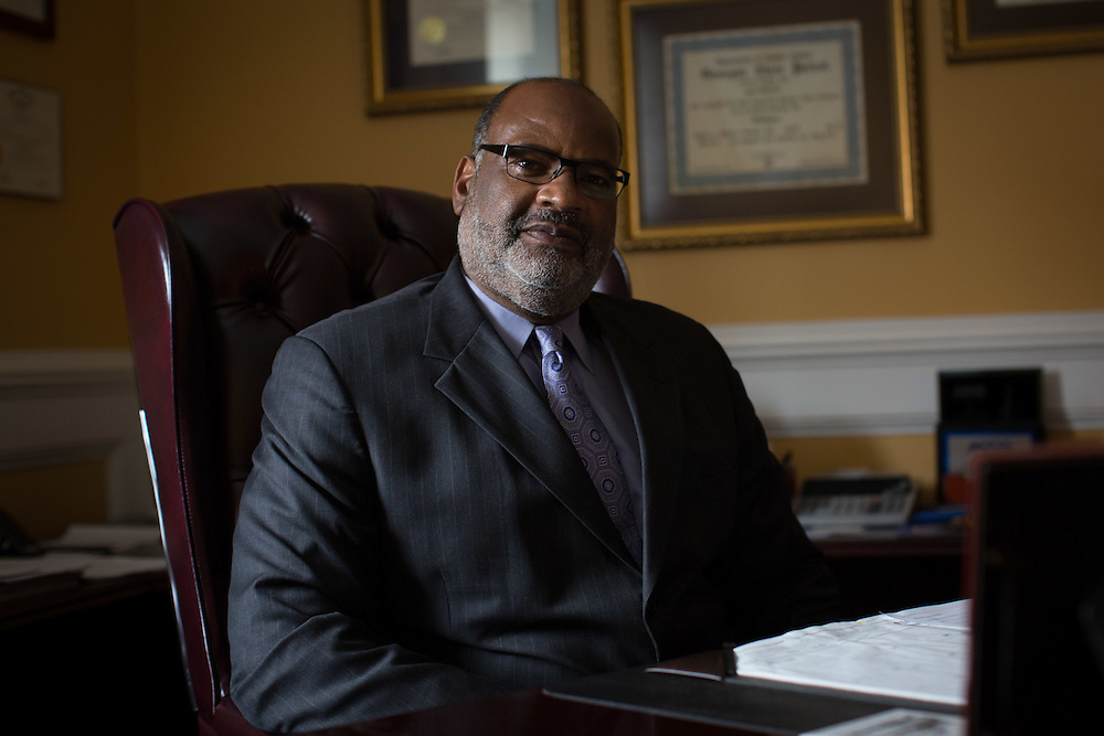 Portrait of Allen Poole, chairman of the Haralson County Board of Commissioners, taken in his office in Buchanan, Ga. on Thursday, July 2, 2015. Poole has served several terms as chairman in a county whose African-American population is less than 5 percent. Shot for a story about changes occurring in the South following a heightened national awareness and sensitivity concerning the Confederate battle flag. Photo by Kevin Liles for The New York Times