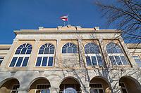 BENTONVILLE, AR - FEBRUARY 15:  Photographs of Benton County Court House on the Square in Bentonville, Arkansas.<br /> CREDIT Wesley Hitt for The Wall Street Journal<br /> WALMART-Bentonville Scene-setters