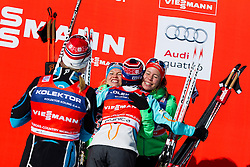 Second placed, Astrid Uhrenholdt Jacobsen/Heidi Weng and Third placed, Hanna Kolb/Sandra Ringwald during the ladies team sprint race at FIS Cross Country World Cup Planica 2016, on January 17, 2016 at Planica, Slovenia. Photo By Urban Urbanc / Sportida