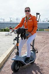 Sanne Voets, (NED) - Horse Inspection Para Dressage - Alltech FEI World Equestrian Games™ 2014 - Normandy, France.<br /> © Hippo Foto Team - Jon Stroud<br /> 25/06/14