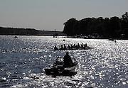 Berlin-Grünau. GERMANY.  GV's. General Views.  Silhouettes Juniors on the water at the  Frühregatta Saturday 30/04/2011 [Mandatory Credit; Peter Spurrier/Intersport-images]
