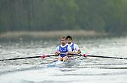 Hazewinkel. BELGUIM  GBR M2- bow Steve WILLIAMS and Josh WEST. 2004 GBR Rowing Trials - Rowing Course, Bloso, Hazewinkel. BELGUIM. [Mandatory Credit Peter Spurrier/ Intersport Images]