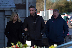 Former professional footballer Stephen Staunton (right) at St. John the Baptist Church in Ovens, County Cork, for the funeral of former Celtic and Manchester United footballer Liam Miller.  PRESS ASSOCIATION Photo. Picture date: Monday February 12, 2018. See PA story SOCCER Miller. Photo credit should read: Clare Keogh/PA Wire