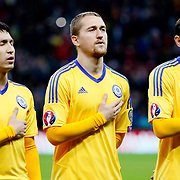 Kazakhstan's players during their UEFA Euro 2016 qualification Group A soccer match Turkey betwen Kazakhstan at AliSamiYen Arena in Istanbul November 16, 2014. Photo by Kurtulus YILMAZ/TURKPIX