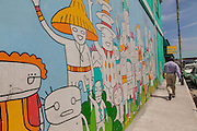 A wall mural in downtown Nassau, Bahamas.