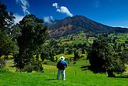 Costa Rica, Turrialba Volcano, Fumarolic Activity,  Fumaroles, Steam, Gas, Active, Mountain Tropical Cloud Forest, Tourist (Model Released)