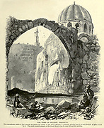 Engraving on Wood of The Tomb of Saladin, Damascus from Picturesque Palestine, Sinai and Egypt by Wilson, Charles William, Sir, 1836-1905; Lane-Poole, Stanley, 1854-1931 Volume 2. Published in New York by D. Appleton in 1881-1884