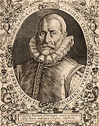 Carolus Clusius (Charles l'Escluse) (1526-1609). French botanist, professor of Botany at Leyden University. Engraving by De Bry.
