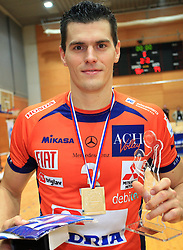 Davor Cebron at finals of Slovenian volleyball cup between OK ACH Volley and OK Salonit Anhovo Kanal, on December 27, 2008, in Nova Gorica, Slovenia. ACH Volley won 3:2.(Photo by Vid Ponikvar / SportIda).