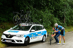 Florian Kierner (AUT) of Team Felbermayr Simplon Wels during 4th Stage of 26th Tour of Slovenia 2019 cycling race between Nova Gorica and Ajdovscina (153,9 km), on June 22, 2019 in Slovenia. Photo by Vid Ponikvar / Sportida