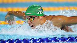South Africa's Chad Le Clos on his way to winning gold in the Men's 200m Butterfly Final at the Gold Coast Aquatic Centre during day three of the 2018 Commonwealth Games in the Gold Coast, Australia.