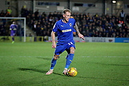 AFC Wimbledon midfielder Mitch Pinnock (11) on the ball during the EFL Sky Bet League 1 match between AFC Wimbledon and Plymouth Argyle at the Cherry Red Records Stadium, Kingston, England on 26 December 2018.