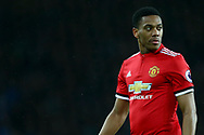Anthony Martial of Manchester United looks on. Premier league match, Everton v Manchester Utd at Goodison Park in Liverpool, Merseyside on New Years Day, Monday 1st January 2018.<br /> pic by Chris Stading, Andrew Orchard sports photography.