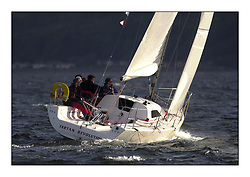 Yachting- The start of the Bell Lawrie Scottish series 2002 at Gourock racing overnight to Tarbert Loch Fyne where racing continues over the weekend.<br /><br />Tartan Revolution - Projection 920 GBR9203R<br />class 3<br /><br />Pics Marc Turner / PFM
