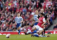 Photo: Olly Greenwood.<br />Arsenal v Reading. The Barclays Premiership. 03/03/2007. Reading's Dave Kitson fouls Arsenal's Denilson