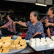 Tofu at market stall in Saigon