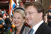 Zijne Hoogheid Prins Floris van Oranje Nassau, van Vollenhoven en mevrouw mr. A.L.A.M. Söhngen zijn zaterdag 22 oktober in de kerk van Naarden in het  huwelijk getreden. De prins is de jongste zoon van Prinses Magriet en Pieter van Vollenhoven.<br /> <br /> Church Wedding Prince Floris and Aimée Söhngen. <br /> <br /> Church Wedding Prince Floris and Aimée Söhngen in Naarden. The Prince is the youngest son of Princess Margriet, Queen Beatrix's sister, and Pieter van Vollenhoven. <br /> <br /> Op de foto / On the photo;<br /> <br /> Hare Koninklijke Hoogheid Prinses Mabel van Oranje-Nassau en Prins Friso<br /> <br /> Her royal highness princess Mabel van Oranje-Nassau and Prins Friso