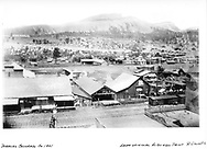 "View of north Durango yard looking northwest.  ""From original Albumen Print, R. Grandt Coll.""<br /> D&RG  Durango, CO  ca 1901"