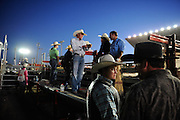 Bull riders waiting their turn, MT State Fair