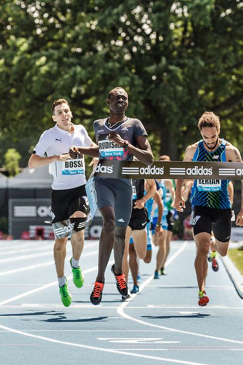 adidas Grand Prix Diamond League Track & Field: Men's 800m, David Radish, Kenya, wins