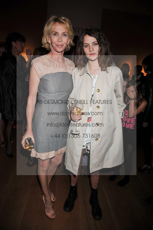 Left to right, TRUDIE STYLER and COCO SUMNER at fundraising dinner and auction in aid of Liver Good Life a charity for people with Hepatitis held at Christies, King Street, London on 16th September 2009.