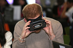 © Licensed to London News Pictures. 08/03/2018. Birmingham, UK. PRINCE HARRY tries Virtual reality while attending Stemettes International Women's Day event at Millennium Point in Birmingham. Photo credit: Dave Warren/LNP
