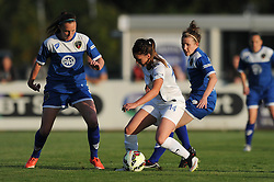 Melissa Lawley of Birmingham City Ladies controls the ball under pressure - Mandatory byline: Dougie Allward/JMP - 07966386802 - 05/09/2015 - FOOTBALL - SGS Wise Campus -Bristol,England - Bristol Academy Womens v Birmingham City Ladies - FA Womens Super League