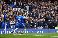 12/5/2004 - Chelsea v  Everton , Stamford Bridge - FA Barclays Premiership.<br />Chelsea's new hero Arjen Robben takes a corner in front of the North Stand<br />Photo:Jed Leicester/Back Page Images