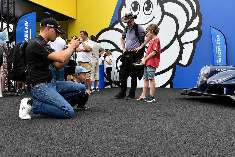 Fan village, atmosphere<br /> Friday 15 June 2018<br /> 24 Hours of Le Mans<br /> 2018 24 Hours of Le Mans<br /> Circuit de la Sarthe WI FR<br /> World Copyright: Scott R LePage