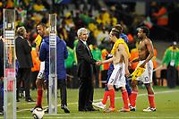 FOOTBALL - FIFA WORLD CUP 2010 - GROUP STAGE - GROUP A - FRANCE v SOUTH AFRICA - 22/06/2010 - PHOTO GUY JEFFROY / DPPI - RAYMOND DOMENECH (FRANCE COACH) / FRANCK RIBERY (FRA)