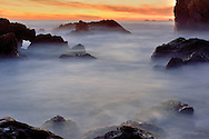Point Lobos, CA, sunset.  Captured at the 7:00 hour precisely as the state park closes in October.