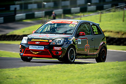 Dylan Hotchin in action while competing in the BRSCC Fiesta Junior Championship. Picture taken at Cadwell Park on August 1 & 2, 2020 by BRSCC photographer Jonathan Elsey