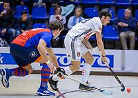 ROTTERDAM  - NK Zaalhockey . finale heren: SCHC-Amsterdam (2-2, SCHC wint shoot-outs) . Wiegert Schut (Adam) .  COPYRIGHT KOEN SUYK