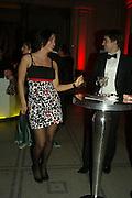 LANA ZUBRINIC AND  LUCAS HILLS, Women for Women International UK Gala Evening. V. & A. 29 April 2008.  *** Local Caption *** -DO NOT ARCHIVE-© Copyright Photograph by Dafydd Jones. 248 Clapham Rd. London SW9 0PZ. Tel 0207 820 0771. www.dafjones.com.