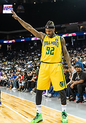 July 6, 2018 - Oakland, CA, U.S. - OAKLAND, CA - JULY 06: DeShawn Stevenson (92) co-captain of the Ball Hogs takes a bow after his basket during game 2 in week three of the BIG3 3-on-3 basketball league on Friday, July 6, 2018 at the Oracle Arena in Oakland, CA (Photo by Douglas Stringer/Icon Sportswire) (Credit Image: © Douglas Stringer/Icon SMI via ZUMA Press)