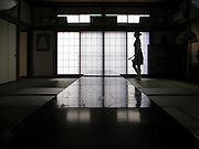 KAMAKURA, JAPAN - A tatami room with the typical soji window.