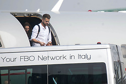 EXCLUSIVE: A stylish David Beckham arrives in Milan for the opening of Adidas's biggest concept store. Beckham is a former AC Milan player, as well and representing Manchester United, Real Madrid and LA Galaxy. 29 Sep 2017 Pictured: Staff of David Beckham. Photo credit: MEGA TheMegaAgency.com +1 888 505 6342