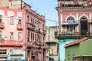 Cuba, Havana crumbling buildings