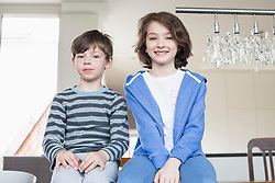 Portrait of girl and boy, smiling