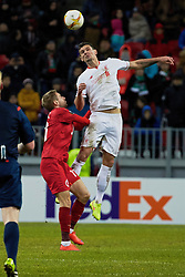 KAZAN, RUSSIA - Thursday, November 5, 2015: Liverpool's Dejan Lovren in action against Rubin Kazan during the UEFA Europa League Group Stage Group B match at the Kazan Arena. (Pic by Oleg Nikishin/Propaganda)