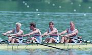 Lucerne, Switzerland. 1995 FISA WC III, Lake Rotsee, Lucerne,<br /> <br /> GBR M4+. Cox. Gary HERBERT<br /> <br /> [Mandatory Credit. Peter SPURRIER/Intersport Images]<br /> <br /> Image scanned from Colour Negative
