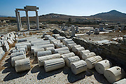 The archeological site on Delos. Magazine of the Columns.