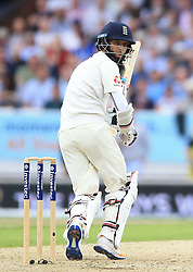 England's Moeen Ali during the second Investec Test match at Headingley, Leeds. PRESS ASSOCIATION Photo. Picture date: Friday August 25, 2017. See PA story CRICKET England. Photo credit should read: Nigel French/PA Wire. RESTRICTIONS: Editorial use only. No commercial use without prior written consent of the ECB. Still image use only. No moving images to emulate broadcast. No removing or obscuring of sponsor logos.