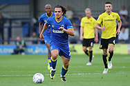 AFC Wimbledon striker Egli Kaja (21) dribbling away and starting an attack during the Pre-Season Friendly match between AFC Wimbledon and Burton Albion at the Cherry Red Records Stadium, Kingston, England on 21 July 2017. Photo by Matthew Redman.
