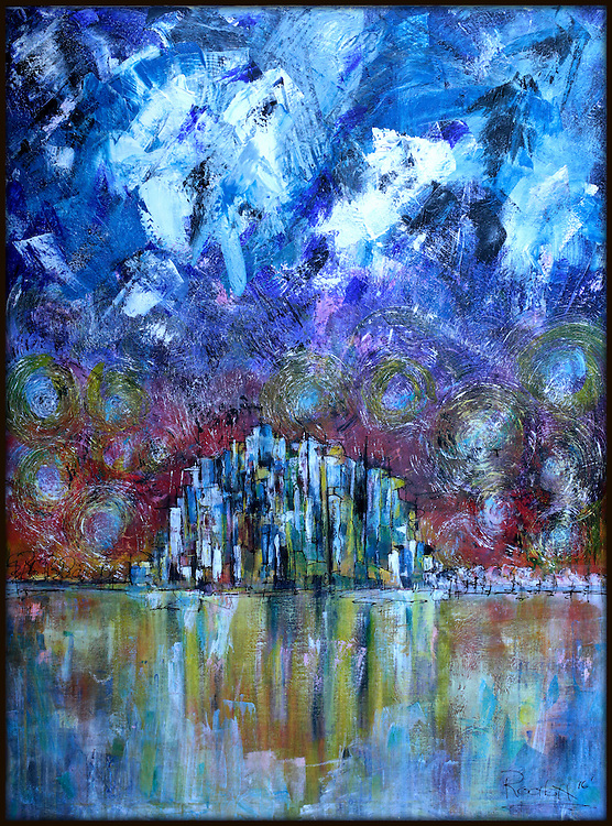 """'THE BIG PICTURE' . 40"""" x 52"""" . Acrylic on Canvas. NFS . Painting 'IS' artist Bio!"""