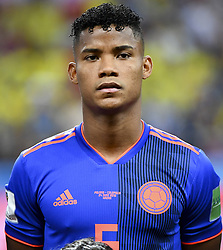 June 25, 2018 - Kazan, Russia - Wilmar Barrios of Colombia during the 2018 FIFA World Cup Group H match between Poland and Colombia at Kazan Arena in Kazan, Russia on June 24, 2018  (Credit Image: © Andrew Surma/NurPhoto via ZUMA Press)